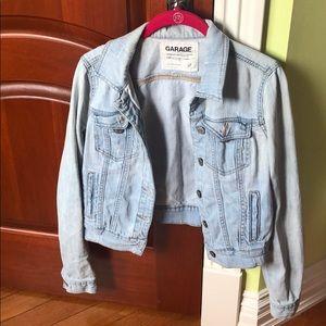 Garage distressed jean jacket